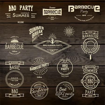 Badges de barbecue et des étiquettes pour toute utilisation, sur un fond blanc Banque d'images - 40167737