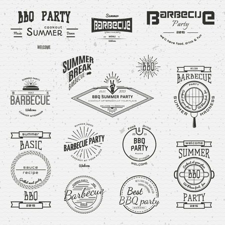 BBQ badges  and labels for any use, on a white background Vector