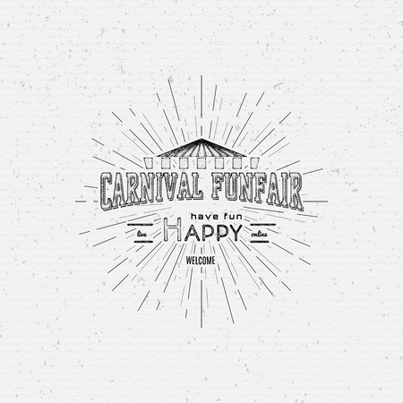 Carnival badges  labels for any use, on a white background Çizim