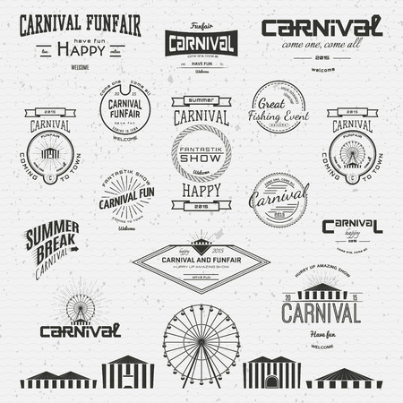 ghosts: Carnival badges  labels for any use, on a white background Illustration