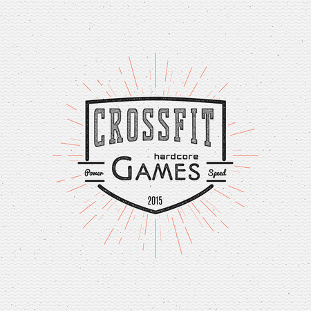 CrossFit badges   labels for any use, on a white background Çizim