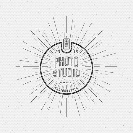 Badges de photographie et des étiquettes pour toute utilisation, sur un fond blanc Banque d'images - 40912888