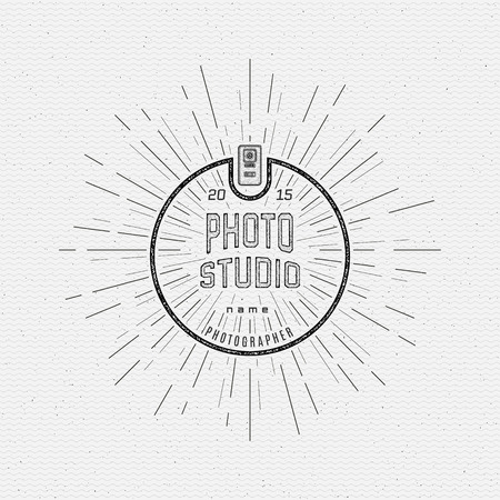Photography  badges  and labels for any use, on a white background Stok Fotoğraf - 40912888
