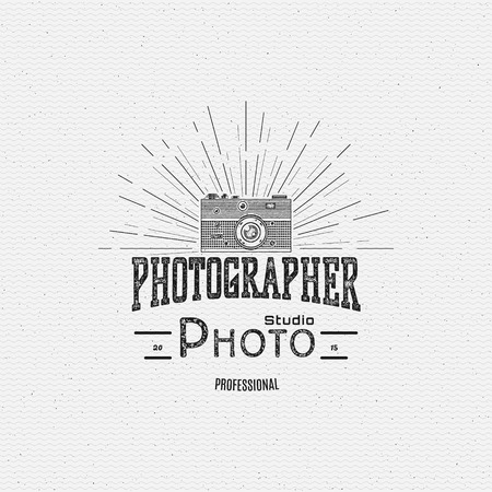 Photography  badges  and labels for any use, on a white background