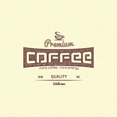 Coffee badges  and labels for any use, on a white background. Vector