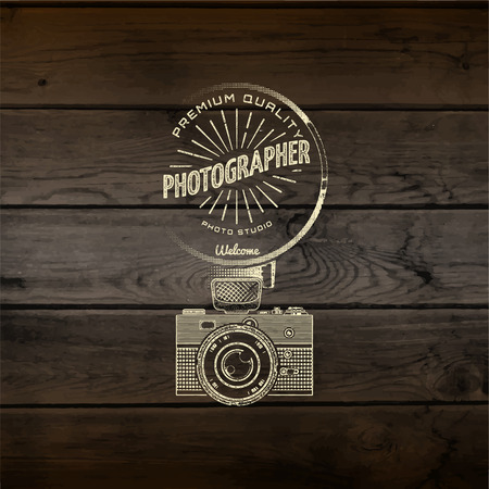 photography logo: Coffee badges  and labels for any use, on a white background.