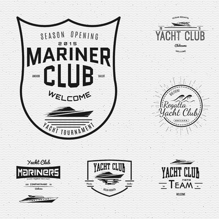 mariner: Yacht club badges  and labels for any use, on a white background