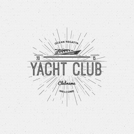 Yacht club badges  and labels for any use, on a white background