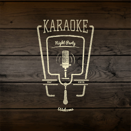 Karaoke party badges logos and labels for any use in your design, such as presentations. Illustration
