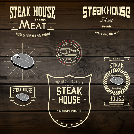 Steak house badges and labels for any use