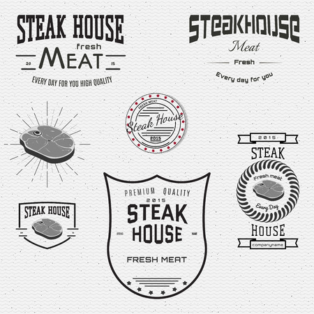 deli meat: Steak house badges and labels for any use