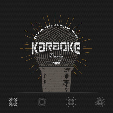 Karaoke Vector Labels Design Royalty Free Cliparts Vectors And