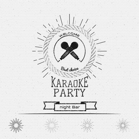 nightclub: Karaoke party badges and labels for any use