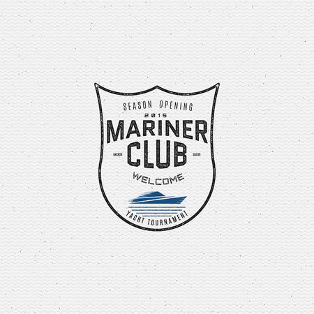mariner: Mariner club badges  and labels for any use, on a white background