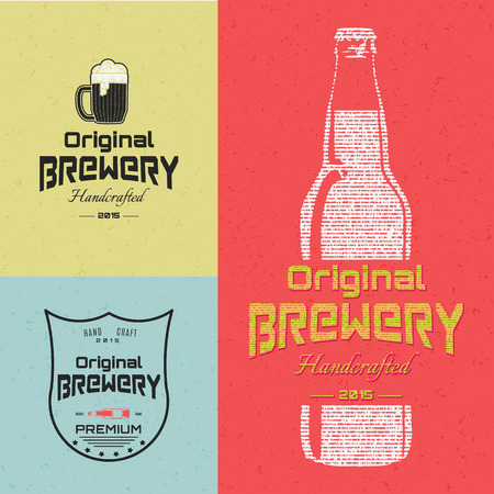 brewing: Beer badges   labels for any use,   templates and design elements for beer house, bar, pub, brewing company, brewery, tavern, restaurant.