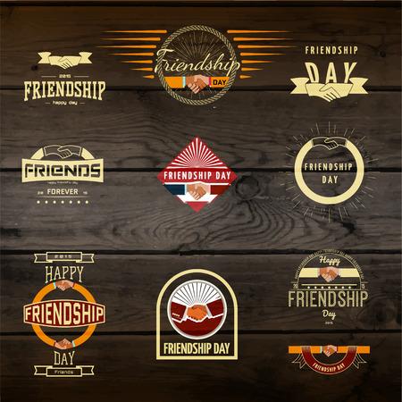 eg: Friendship day badges  labels for any use, eg for design of cards or presentations