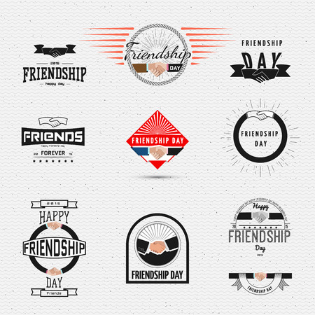 eg: Friendship day badges  labels for any use, eg for design of cards or presentations