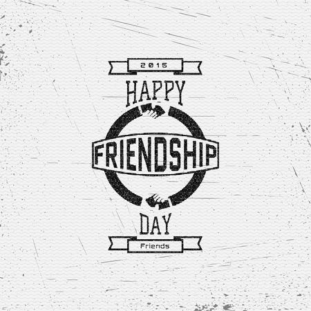 friendship day: Friendship day badges  labels for any use, eg for design of cards or presentations