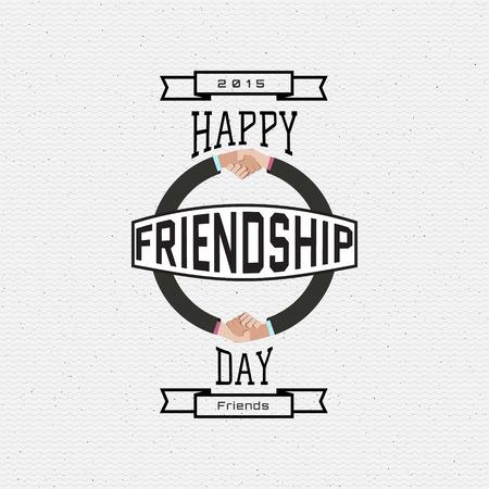 brotherhood: Friendship day badges   labels for any use, eg for design of cards or presentations Illustration