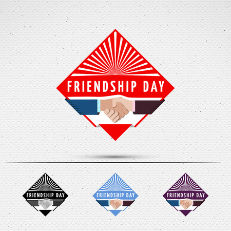 friendship day: Friendship day badges   labels for any use, eg for design of cards or presentations Illustration