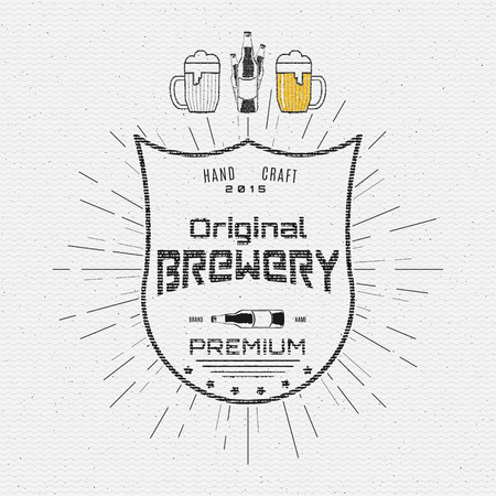 Brewery badges   labels for any use,  templates and design elements for beer house, bar, pub, brewing company, brewery, tavern, restaurant
