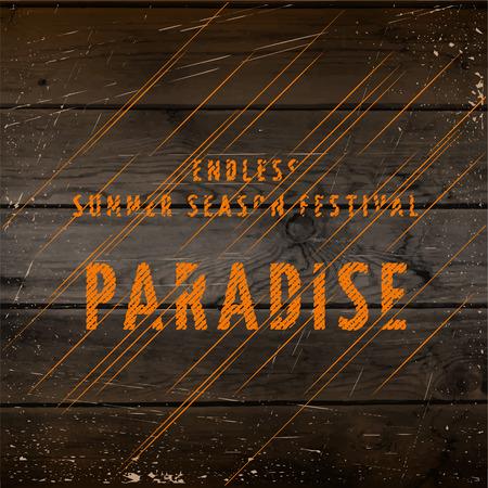 pozőr: Nyári fesztivál paradicsoma kitűzők kártyák és pózoló Ezt fel lehet használni a tervezés meghívások, jelek és bemutatók