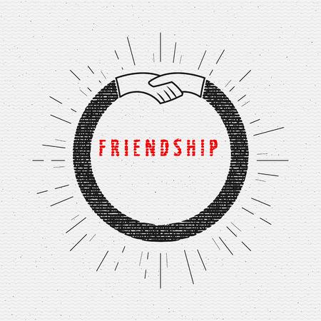 eg: Friendship badges   labels for any use, eg for design of cards or presentations Illustration