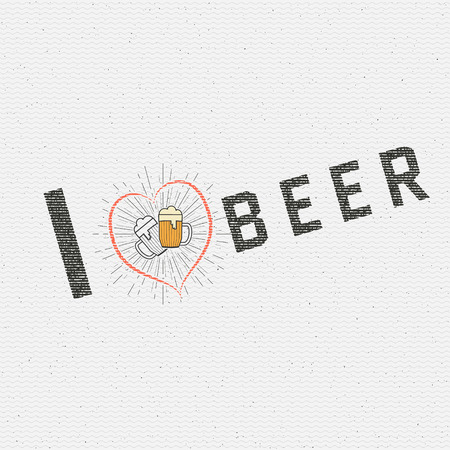 beer house: I love beer badges   labels for any use,  templates and design elements for beer house, bar, pub, brewing company, brewery, tavern, restaurant