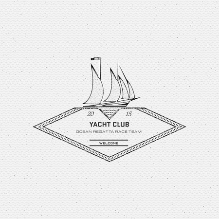 barque: Yacht club badges and labels for any use, on a white background