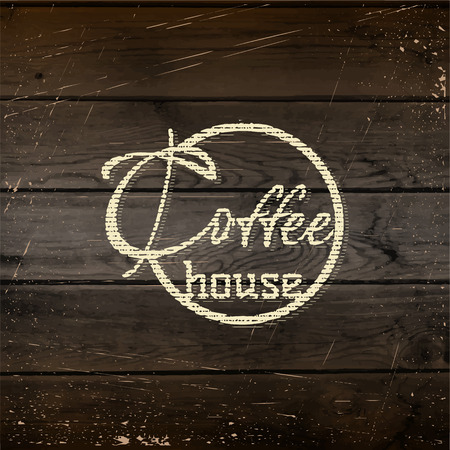 Coffee house badges and labels