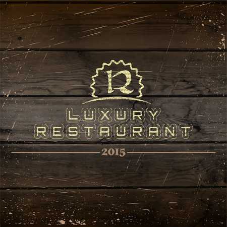 Restaurant badges and labels can be used to design signage bistro, restaurant, fast food, on business cards and branding