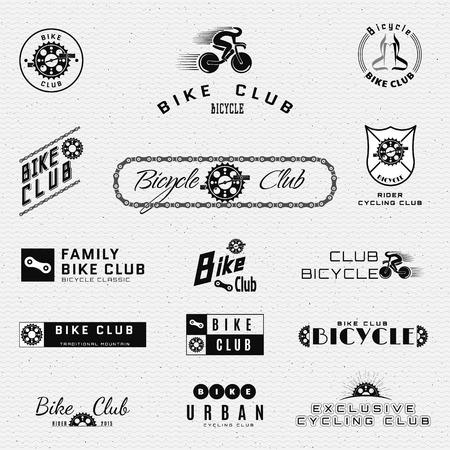 Fahrrad-Abzeichen und Etiketten für jeden Einsatz, isoliert auf weißem Hintergrund. Standard-Bild - 43503289