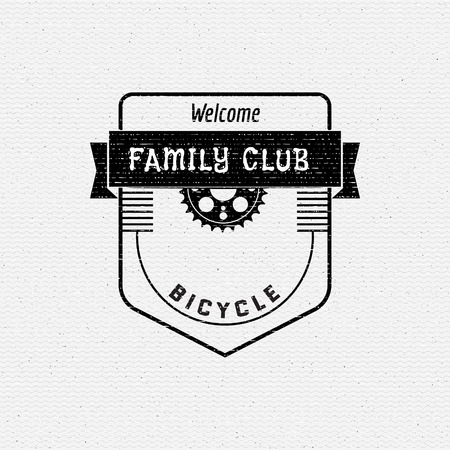 sports club: Bicycle badges and labels for any use, isolated. It can be used to design a sports club, clothing as prints sales