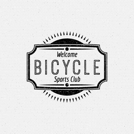 sports clothing: Bicycle badges and labels for any use, isolated. It can be used to design a sports club, clothing as prints sales