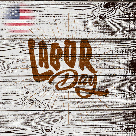 Labor day badges labels  can be used for in the design, sales, product, or on the postcards Illustration