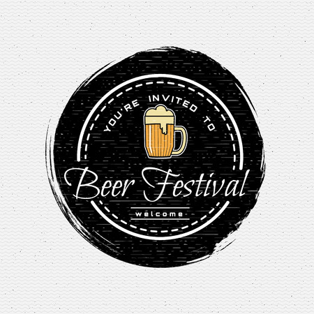 Beer festival badges logos and labels for any use, logo templates and design elements for beer house, bar, pub, brewing company, brewery, tavern, restaurant. Illustration