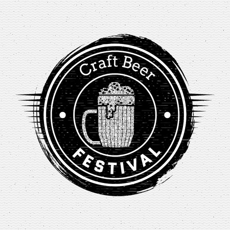 Beer festival badges logos and labels for any use, logo templates and design elements for beer house, bar, pub, brewing company, brewery, tavern, restaurant.  イラスト・ベクター素材
