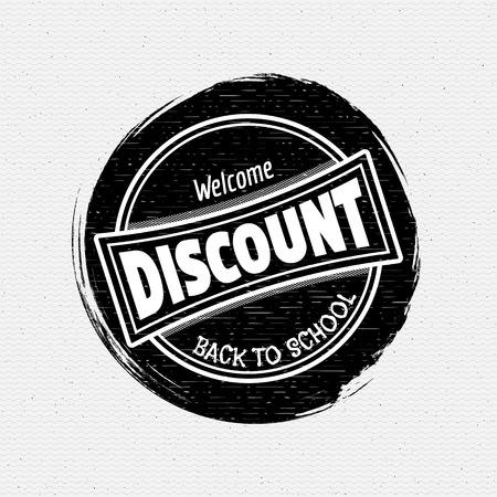 sello: Volver a la Escuela insignias logotipos y etiquetas Puede ser utilizado para el dise�o, las ventas de alimentos de la escuela, y descuentos