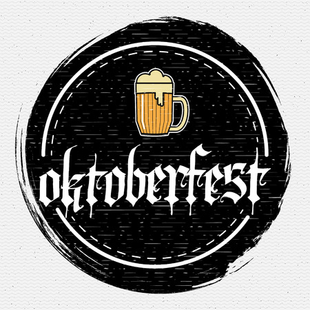 bar: Oktoberfest badges logos and labels for any use, logo templates and design elements for beer house, bar, pub, brewing company, brewery, tavern, restaurant.