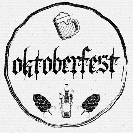 beer house: Oktoberfest badges logos and labels for any use, logo templates and design elements for beer house, bar, pub, brewing company, brewery, tavern, restaurant.
