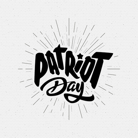 Patriot day badges logos and labels It can be used to design greeting card, invitation, sales, and discounts Illustration