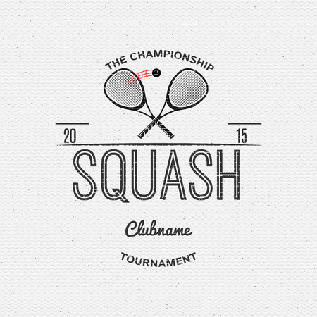 squash: Squash badges and labels can be used for design, presentations, brochures, flyers, sports equipment, corporate identity, sales Illustration
