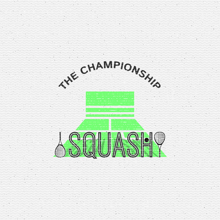 be the identity: Squash badges and labels can be used for design, presentations, brochures, flyers, sports equipment, corporate identity, sales Illustration