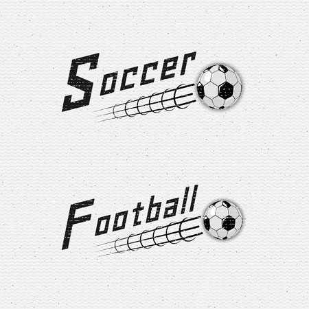 be the identity: Football, Soccer badges  and labels can be used for design, presentations, brochures, flyers, sports equipment, corporate identity, sales