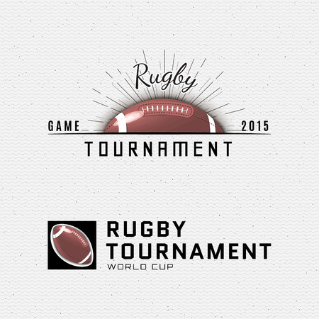 rugby: Rugby badges and labels can be used for design, presentations, brochures, flyers, sports equipment, corporate identity, sales