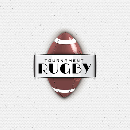 be the identity: Rugby badges  and labels can be used for design, presentations, brochures, flyers, sports equipment, corporate identity, sales