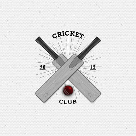 be the identity: Cricket badges   and labels can be used for design, presentations, brochures, flyers, sports equipment, corporate identity, sales