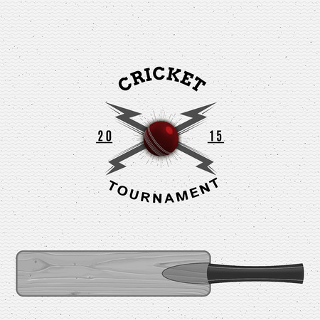 be the identity: Cricket badges labels can be used for design, presentations, brochures, flyers, sports equipment, corporate identity, sales