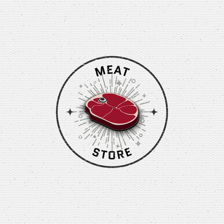 deli meat: Meat store badges   labels for any use, for example, to design your store