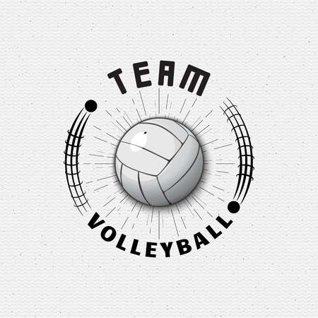Volleyball badges logos and labels can be used for design, presentations, brochures, flyers, print, sports equipment, corporate identity, sales Ilustração